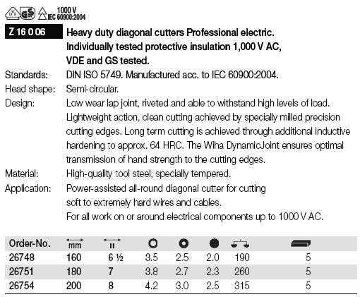 Kìm cắt cách điện 1000V, kìm điện 1000V, kìm cách điện Wiha 1000V,