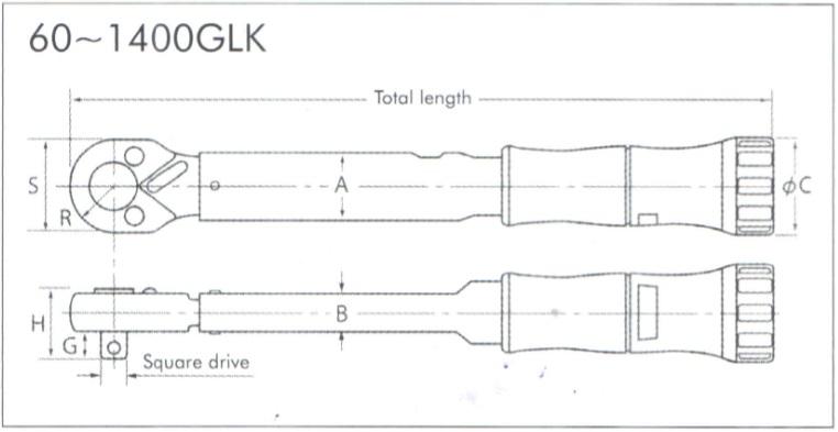 Cờ lê lực Kanon Nhật, Kanon GLK, cờ lê lực N100GLK, N50GLK, N25GLK