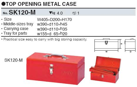 Hộp dụng cụ SK120-M, SK120-M KTC, hộp đựng đồ bằng thép,