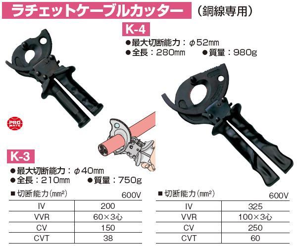 Kìm cắt cáp tự động, Marvel K-4, kìm cắt cáp đến 52mm