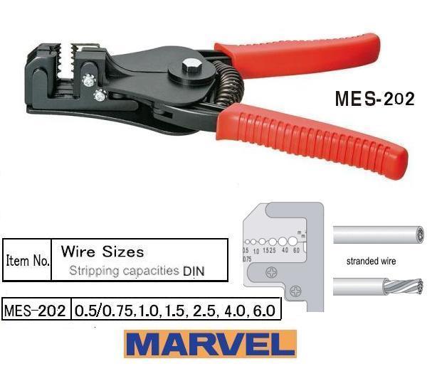 Kìm tuốt dây Marvel Nhật, kìm tuốt dây MES-202, kìm tuốt dây đến 6.0mm2, kìm tuốt dây điện