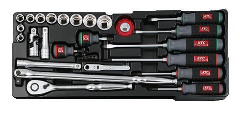 Bộ dụng cụ SK4586XT, khay đựng dụng cụ, KTC SK4586X, bộ tô vít, bộ đồ nghề Yamaha,