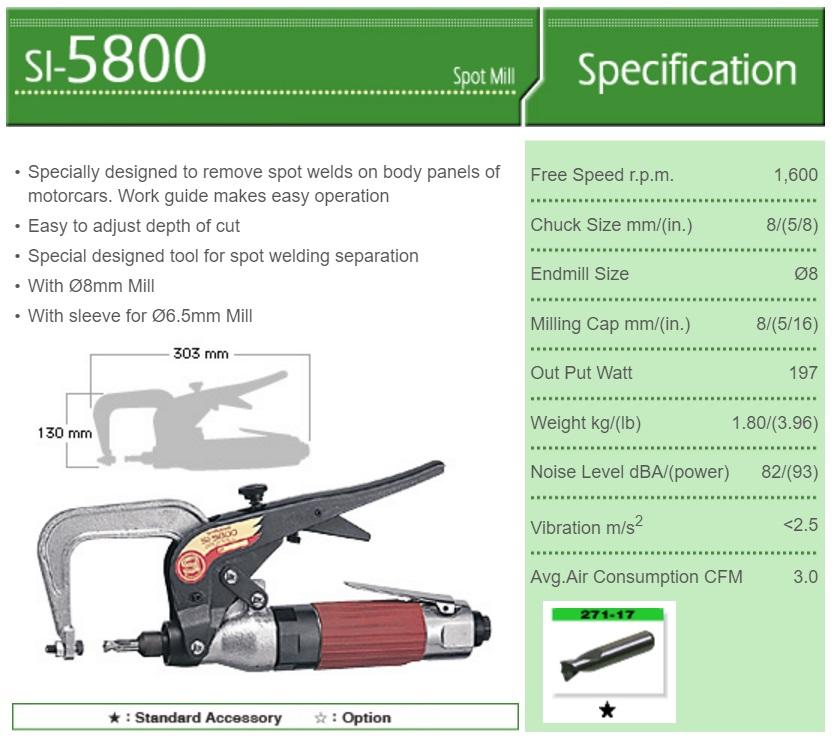 Máy khoan Shinano, máy khoan mối hàn, SI-5800,