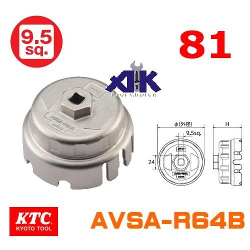 Bát tháo cốc lọc, lọc dầu Lexus, cốc lọc dầu xe Lexus, KTC AVSA-R64B