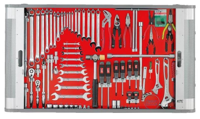 Bảng treo dụng cụ KTC MK91A, bộ dụng cụ dạng bảng, MK91A, MK92