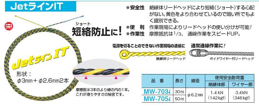 Dây mồi Jet Marvel, dây mồi luồn điện dùng trong xây lắp, MW-703i, MW-705i,