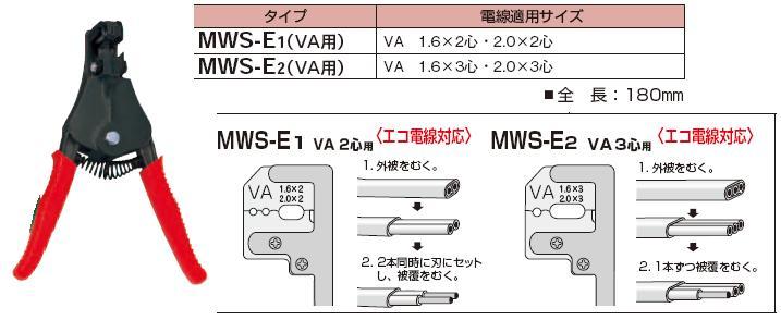 Kìm tuốt dây đôi Marvel, kìm tuốt dây Marvel MWS-E1, kìm tuốt dây VA 1.6 và 2.0