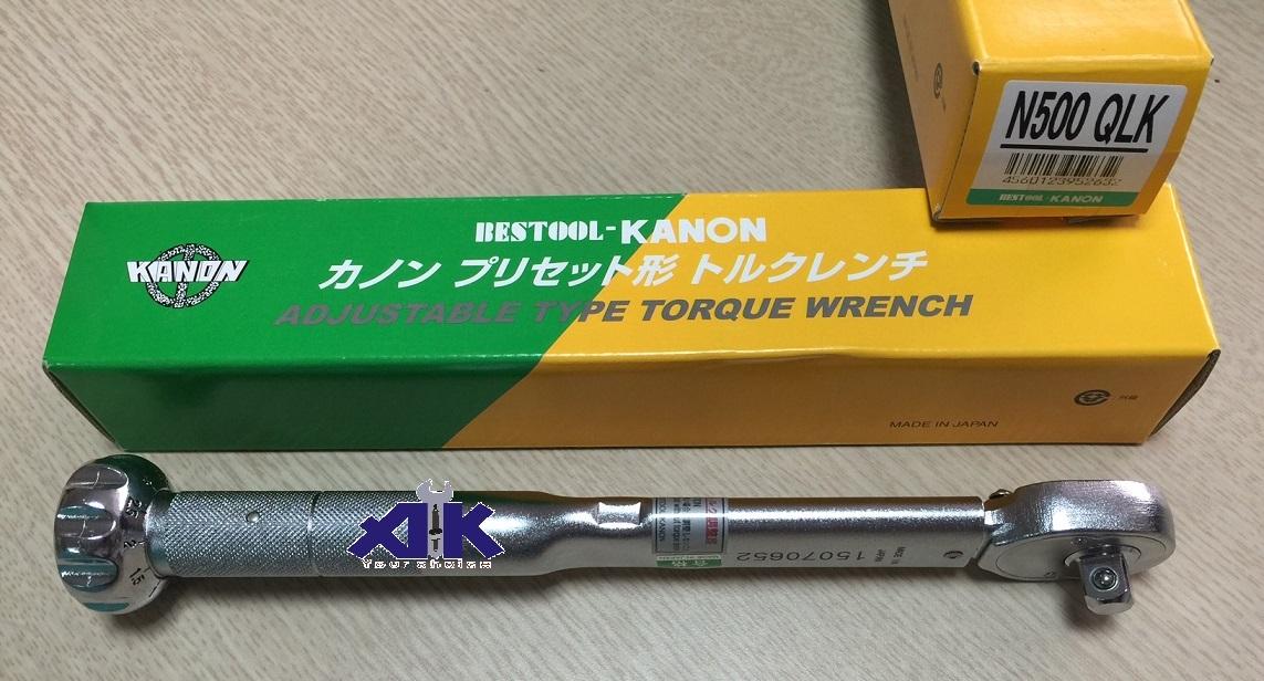 Cờ lê lực Kanon, Kanon N500QLK, cần xiết lực Kanon, cần xiết lực nhập khẩu từ Kanon Nhật