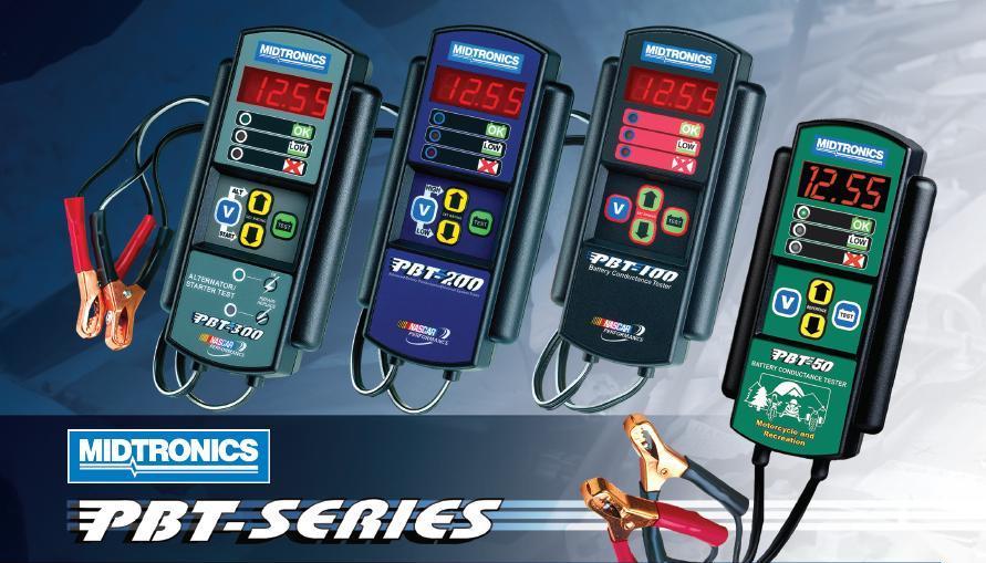 Dòng thiết bị kiểm tra ắc quy ô tô, Mitronics dòng PBT, kiểm tra đánh giá điện áp bình điện,