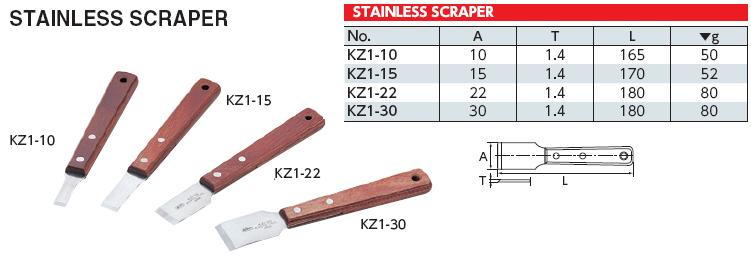 Scraper, dao cạo gioăng KTC, KZ1-22 KTC, dao cạo gioăng Nhật