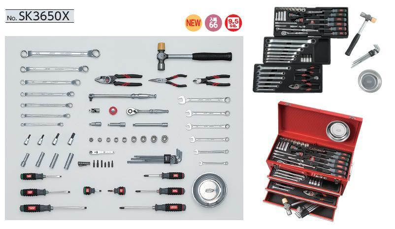 Bộ dụng cụ KTC SK3650X, SK3650X, bộ dụng cụ 65 chi tiết,