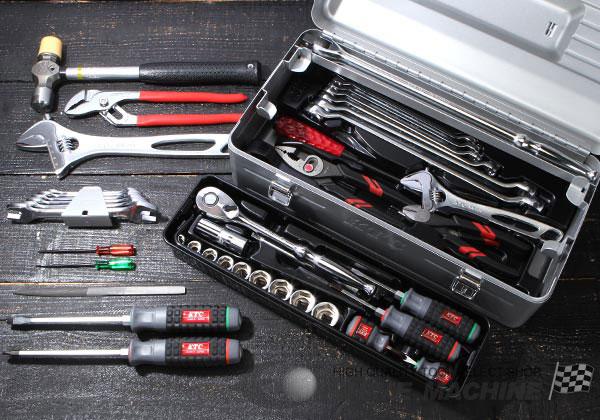 Bộ dụng cụ KTC với hộp EK-3, bộ dụng cụ với 44 chi tiết