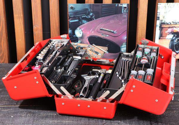 Bộ dụng cụ sửa chữa KTC với 51 chi tiết, bộ dụng cụ với hộp nhựa SK330P-M