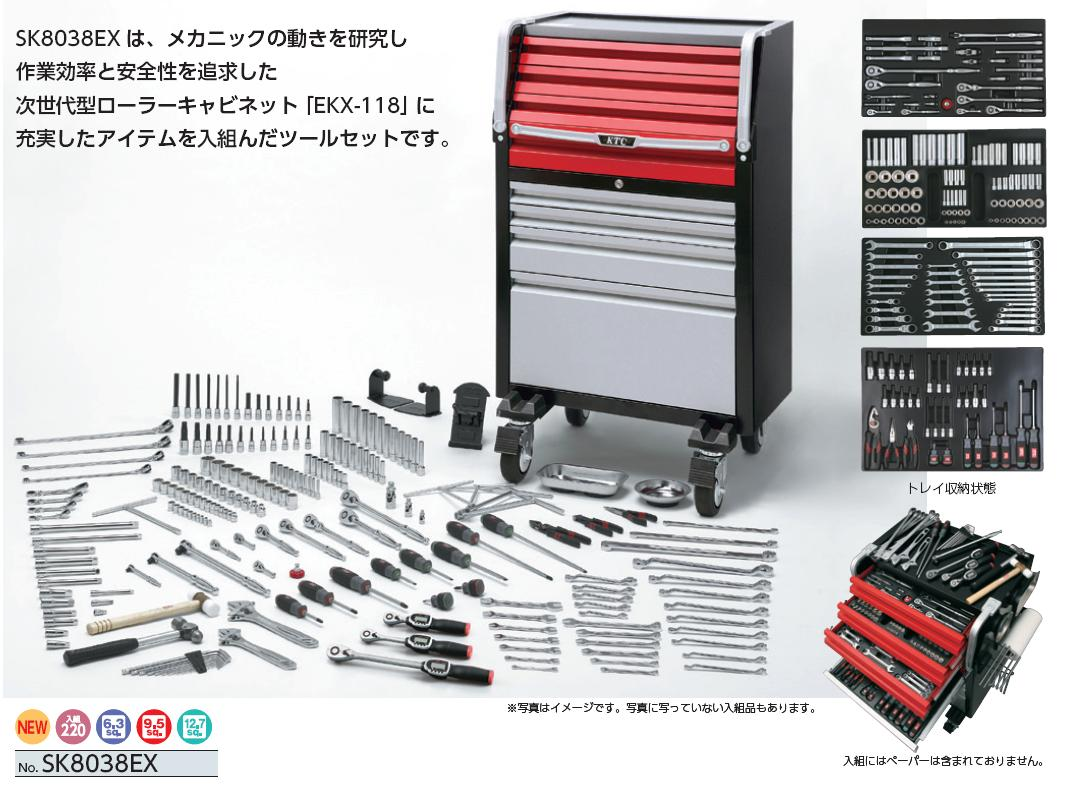 Bộ dụng cụ SK8038EX, bộ dụng cụ 220 chi tiết, bộ dụng cụ nhập khẩu