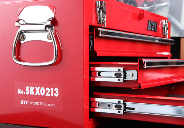 Thùng đựng dụng cụ sửa chữa, thùng đựng dụng cụ cầm tay, SKX0213, hộp đựng đồ nghề, thùng đựng đồ, KTC SKX0213, thùng đựng đồ 3 ngăn kéo,
