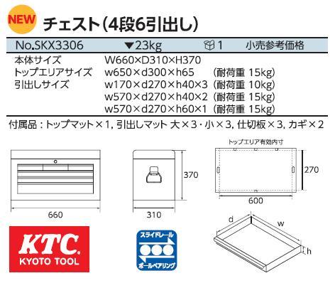 Hộp đựng đồ nghề, hộp đựng dụng cụ, KTC SKX3306, SKX3306