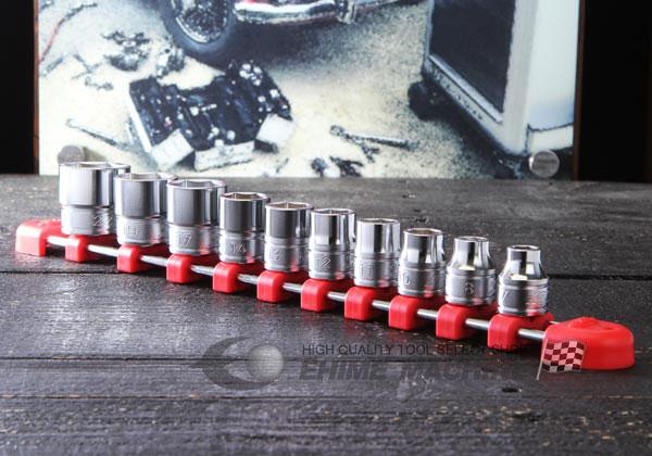 Bộ tuýp 3/8 inch, bộ đầu khẩu 3/8 inch, KTC TB310, bộ khẩu từ 7 đến 22mm