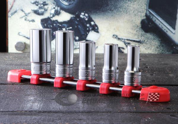 Bộ tuýp dài loại 3/8 inch, bộ khẩu 3/8 inch từ 8 đến 17mm, KTC TB3M05