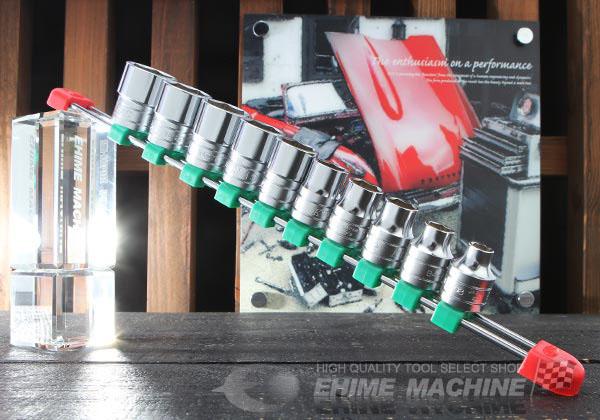 Bộ tuýp 1/2 inch, bộ đầu khẩu 1/2 inch từ 8 đến 24mm, KTC TB410E, KTC TB410XE