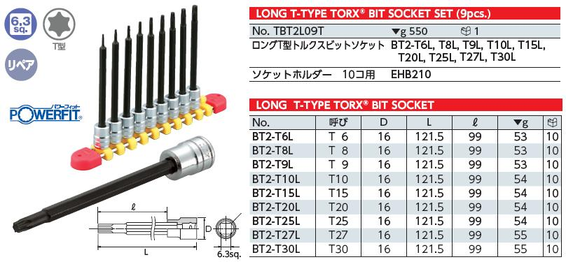 Bộ hình sao dài từ T6 đến T30, bộ sao KTC Nhật, KTC TBT2L09T, bộ đầu sao từ T6 đến T30