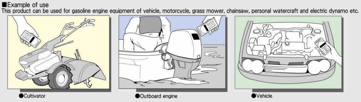 Đồng hồ đo tốc độ động cơ xăng, đồng hồ đo vòng quay trục cơ, đo vòng quay trục khuỷu, đo các loại động cơ xăng