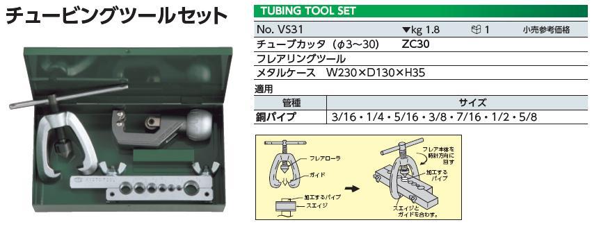 Bộ dụng cụ làm ống, KTC VS31, làm ống nhập khẩu