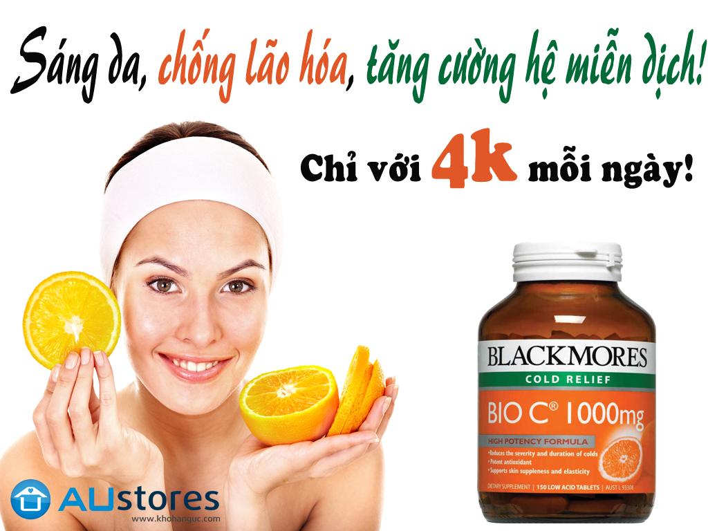 Vin Ung B Sung Vitamin C Blackmores Bio 1000mg 150 Tablets Cn Gip Tng Cng Sc Khng V Cha Lnh Vt Thng 1 Cch Nhanh Chng Dng Ca