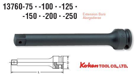 Thanh nối dài 3/8 inch, Koken 13760-100, 13760-150, thanh nối Koken 150mm