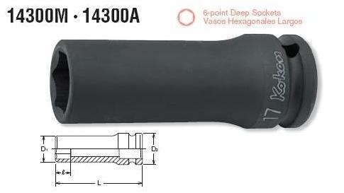Đầu khẩu dài Koken, khẩu Koken 14300M, đầu khẩu cho lắp ráp