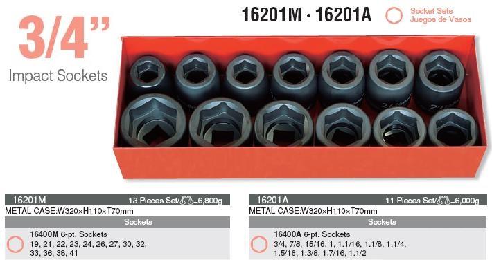 Bộ khẩu 3/4 inch, khẩu tuýp 3/4 inch, Koken 16201M