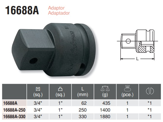 Đầu chuyển 3/4 inch sang 1 inch, Koken 16688A, đầu chuyển Koken Nhật