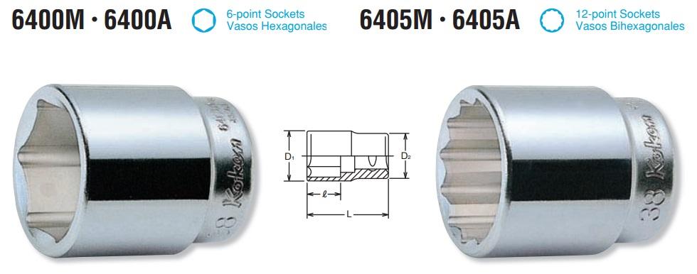 Đầu khẩu Koken 19.5, đầu khẩu Koken 3/4 inch, tuýp Koken 3/4 inch, Koken 6400M, Koken 6405M