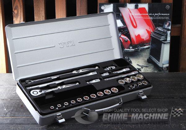 Bộ đầu khẩu 3/8 inch, bộ khẩu 26 chi tiết 3/8 inch, bộ khẩu KTC Nhật