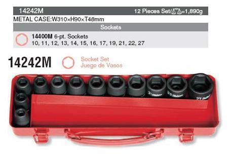 Bộ đầu khẩu Koken 1/2 inch, Koken 14241M, bộ đầu khẩu 12 chi tiết