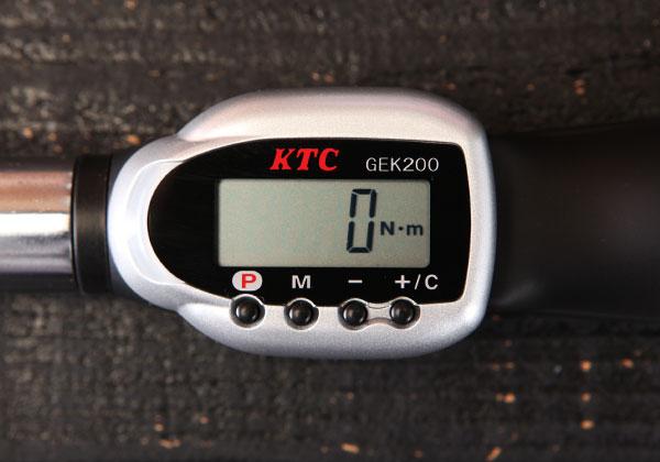 Cờ lê lực điện tử, dải lực đến 200Nm, KTC GEK200-R4, cần xiết lực hiển thị điện tử