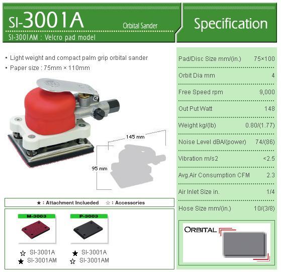 Máy chà nhám vuông, SI-3001A, SI-3001, máy chà nhám với đế 75x110mm
