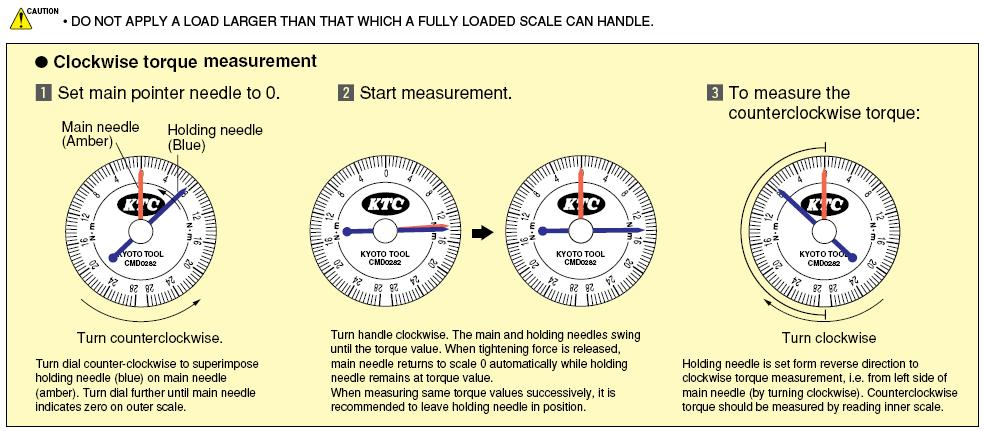 Cờ lê lực kim chỉ, cân lực đồng hồ kim chỉ KTC, KTC CMD353, cờ lê lực với đầu nối 1/2 inch,