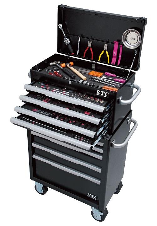 Xe dụng cụ 5 ngăn kéo và hộp đựng 4 ngăn, EKR-1004, EKW-1005