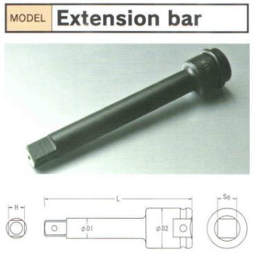 Thanh nối dài BiX loại 3/8 inch, thanh nối dài chiều dài 100mm