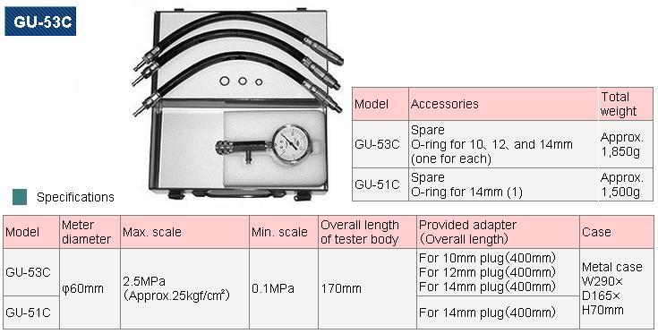 Đo áp suất buồng đốt, NPA GU-53C, Toyo tech GU-553C, đo áp suất động cơ,