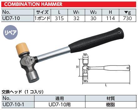 Búa kết hợp, KTC UD7-10, búa Yamaha, búa xưởng Yamaha, búa nhập khẩu, búa 730g