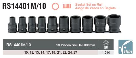 Bộ đầu khẩu Koken 1/2 inch, Koken RA14401M/10