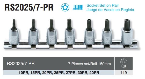 Bộ đầu sao 5 cạnh cỡ 6.3, bộ sao 5 cạnh Koken, Koken RS2025/7-PR