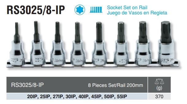 Bộ tháo ốc 6 cạnh, Koken RS3025/8-IP, đầu tuýp Koken 6 cạnh 9.5