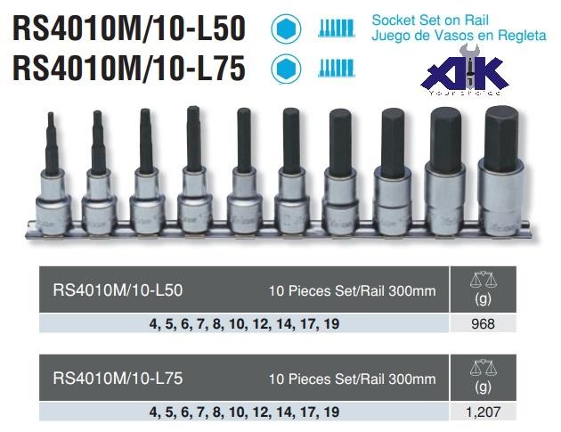 Bộ lục giác chìm dạng khẩu, Koken RS4010M/10-L50, Koken RS4010M/10-L175