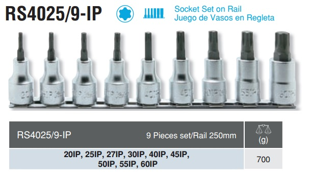 Bộ đầu sao 6 cạnh, Koken TORXplus, Koken RS4025/9-IP