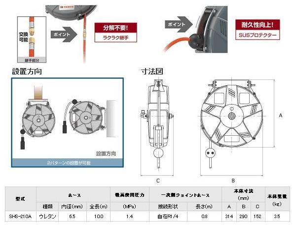 Treo cuộn dây khí, cuộn dây khí Sankyo, SHS-210Z