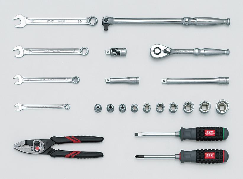 Bộ dụng cụ gia đình, bộ dụng cụ 22 chi tiết, KTC SK322P, bộ đò dùng trong gia đình