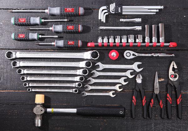 Bộ dụng cụ 44 chi tiết, KTC SK33913PS, dụng cụ sửa chữa di động, dụng cụ xưởng Yamaha,