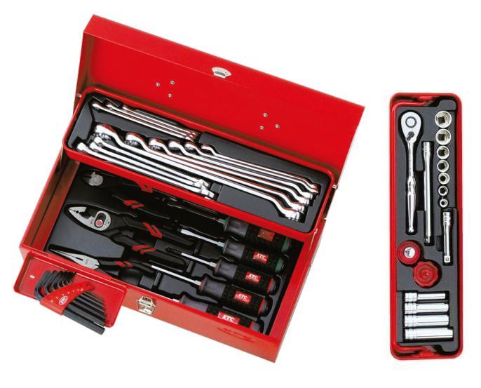 Bộ dụng cụ KTC SK3434S, bộ dụng cụ xách tay, bộ dụng cụ 43 chi tiết của KTC